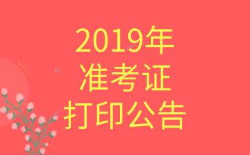 2019年度全国税务师职业资格考试准考证打印公告
